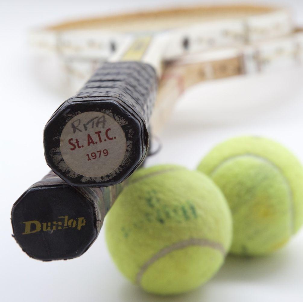 Wooden Tennis_Rita's Wooden Racquet Tennis ball