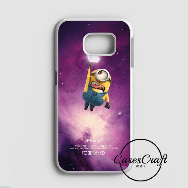 Despicable Me Minion Catch Apple Logo In Dr Who Tardis Samsung Galaxy S7 Case   casescraft