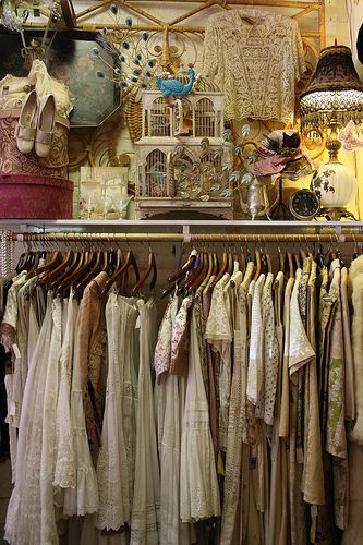 Vintage Vintage Clothes Shop Shabby Chic Antiques Vintage Clothing Display