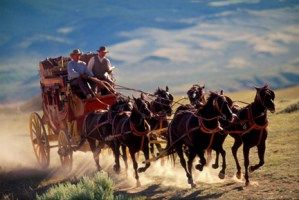 The Iconic Image Of The Wells Fargo Stagecoach As A Symbol