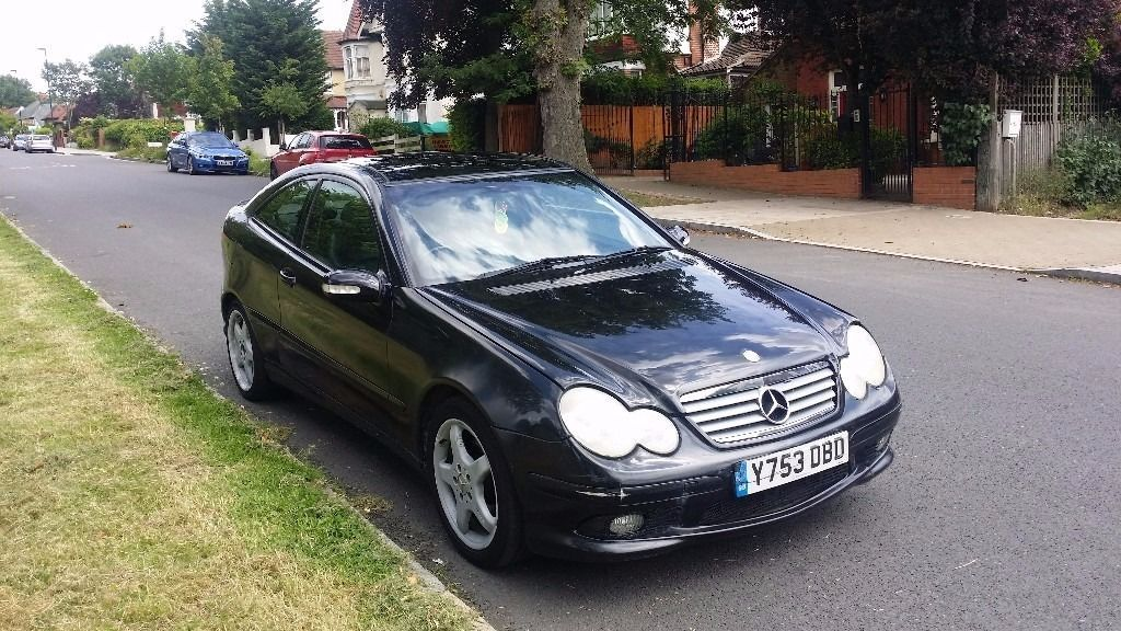 FOR SALE MERCEDES C230 COUPE,BLACK,AUTOMATIC,BLACK LEATHER