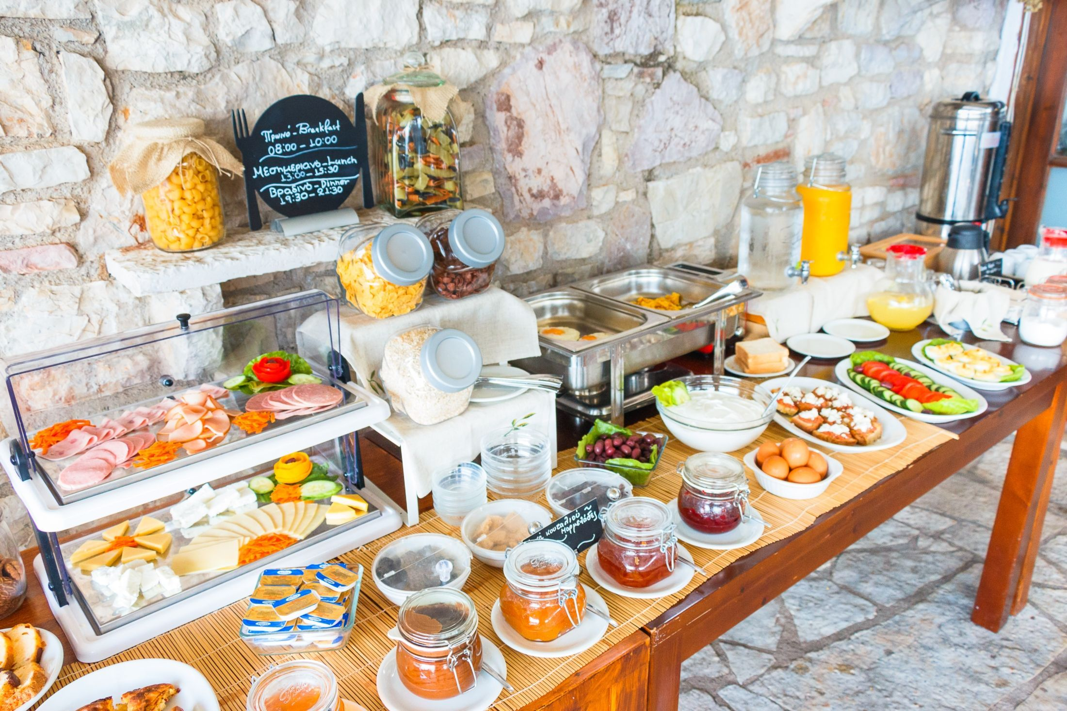 Buffet Breakfast Hotel Holidays Petalidi Messiniahotel