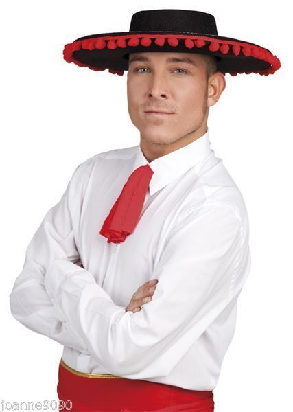 Spanish Mexican Black Matador Bull Fighter Senor Fancy Dress Day of ... 0fc2b03b6523