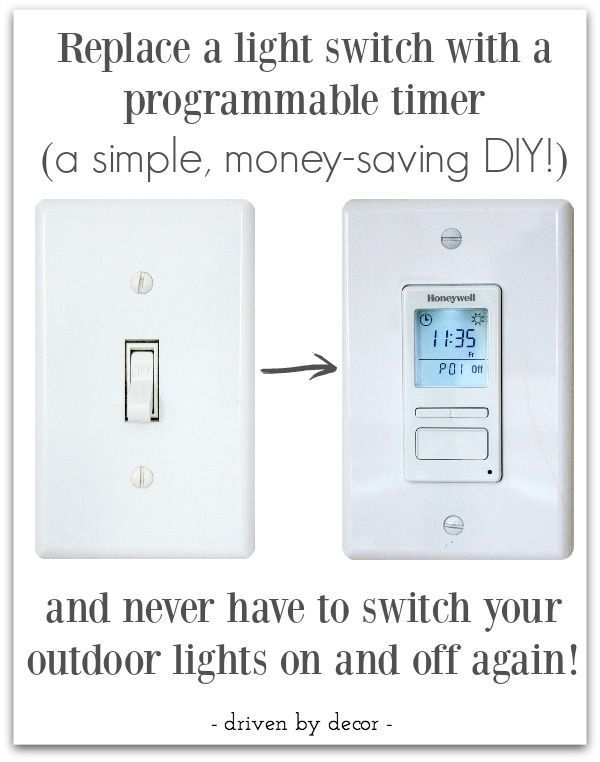 Make your outdoor lights turn on automatically at night my favorite love the idea of a timer that turns outdoor lights on and off automatically aloadofball Gallery
