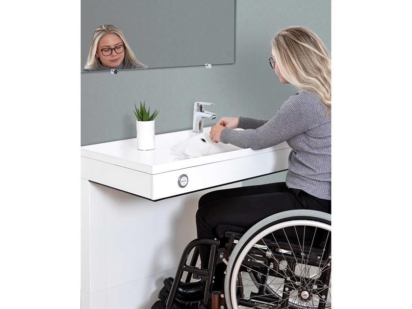Lavabo Per Disabili Ad Altezza Regolabile Vanity By Ropox