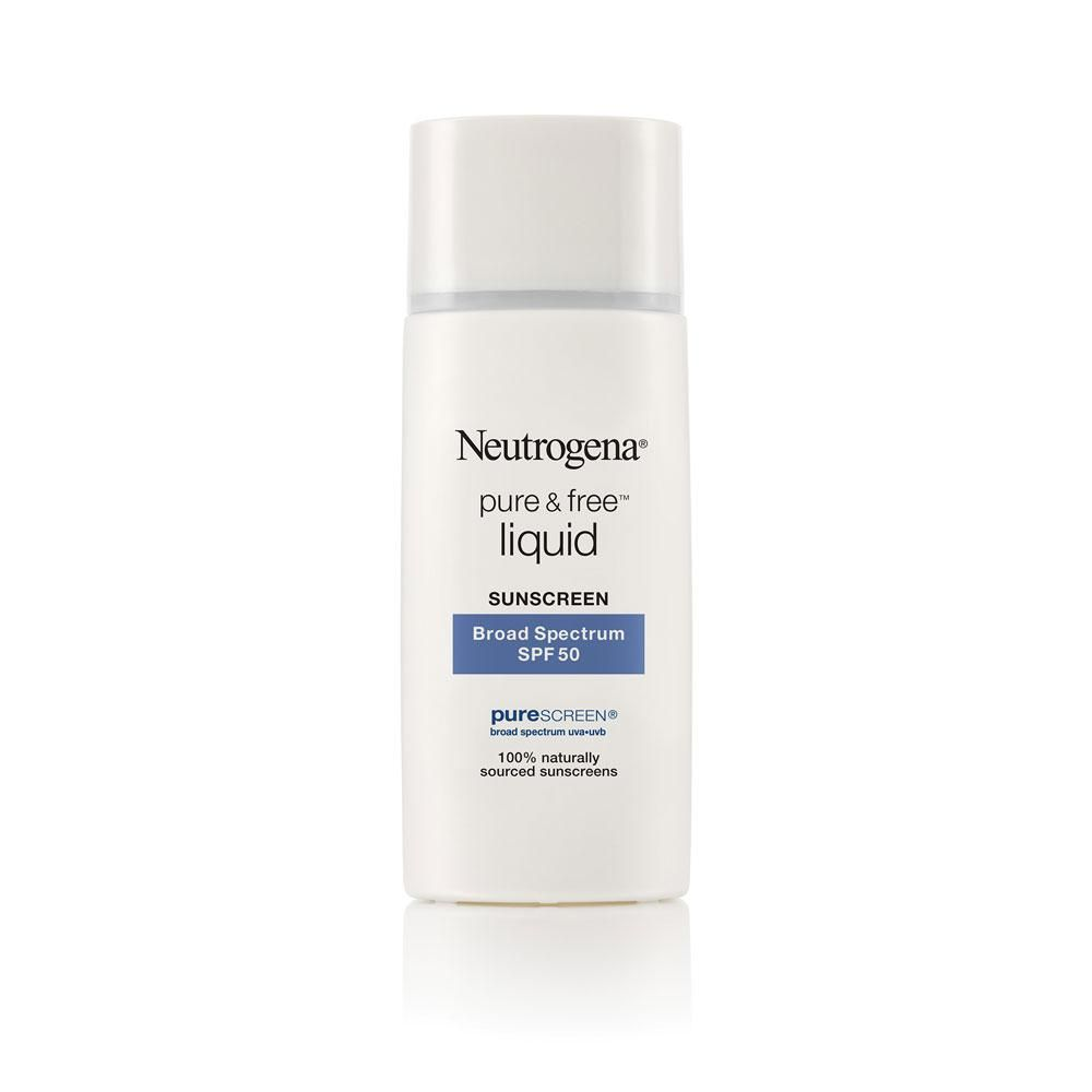 Neutrogena Pure Free Liquid Sunscreen Spf 50 Sunscreen For Sensitive Skin Face Sunscreen Sunscreen Spf 50