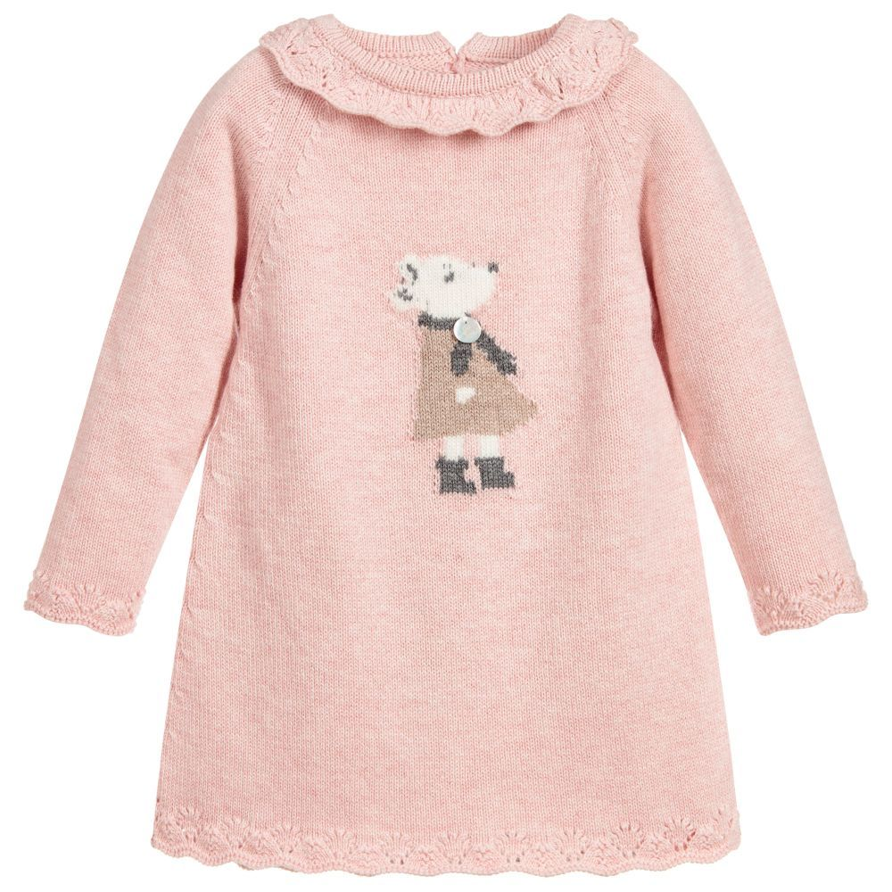 7e774f0ae Baby Girls Pink Knit Dress