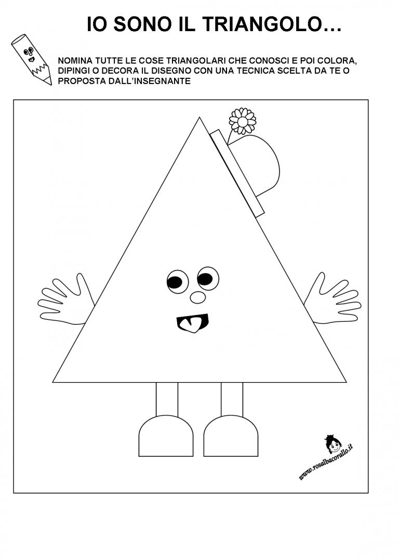 Schede Didattiche Figure Geometriche Per Bambini Di 3 4 Anni Con