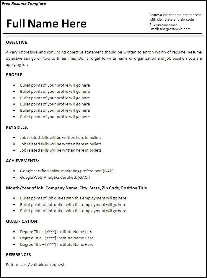 Resume Templates Job Specific #resume #ResumeTemplates #specific