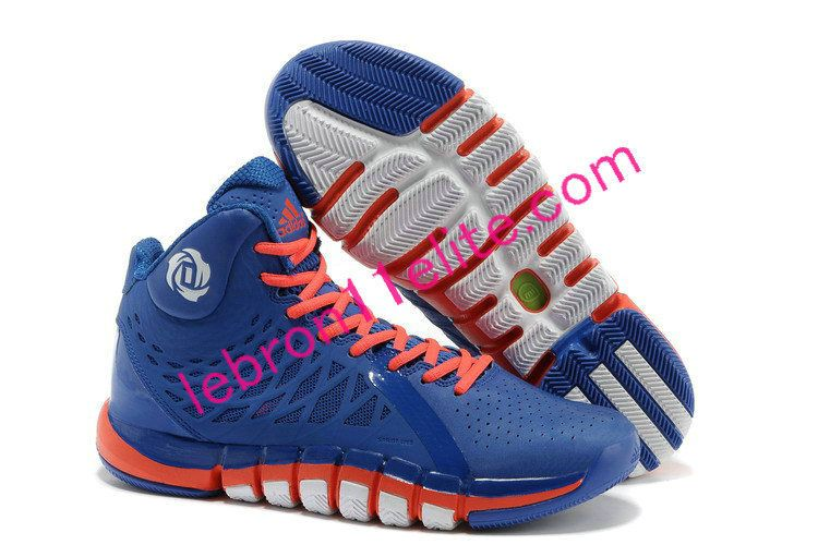 2013 New Adidas Derrick Rose 773 II Blue Orange White Fashion Shoes Shop