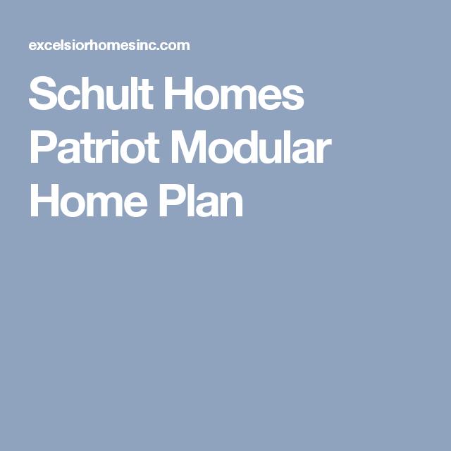 Schult Homes Patriot Modular Home Plan | House Plans