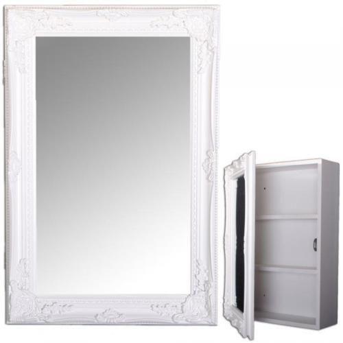 Spiegelschrank-BEATRICE-60x40cm-Badezimmer-Schrank-weiss