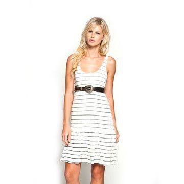 Striped Scoop Neck Dress.