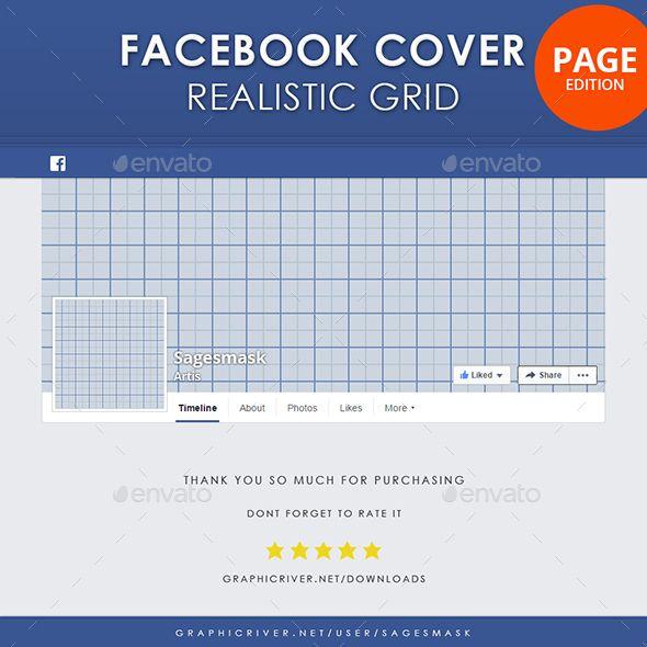 Facebook Timeline Cover Page Realistic Grid Facebook Timeline