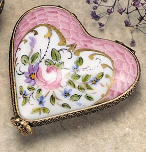 Limoges Pink Heart Box
