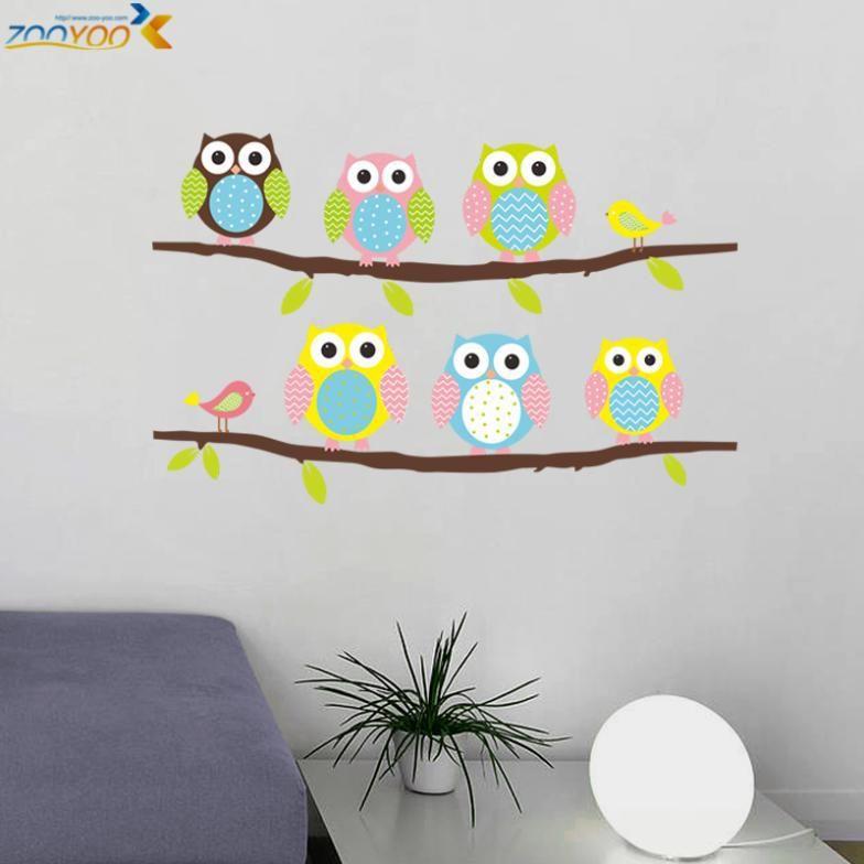Детская комната сова наклейки на стены zooyoo1020 оригинальный