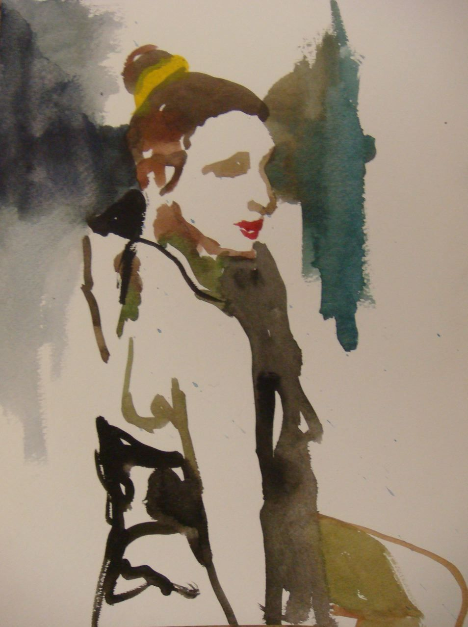 Watercolor artists names - Artist Name Sklaroff Collection Name Watercolors Art Name Woman With