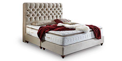 boxspringbett 180x200 beige vegas hotelbett doppelbett matratze ... - Doppelbett Luxus