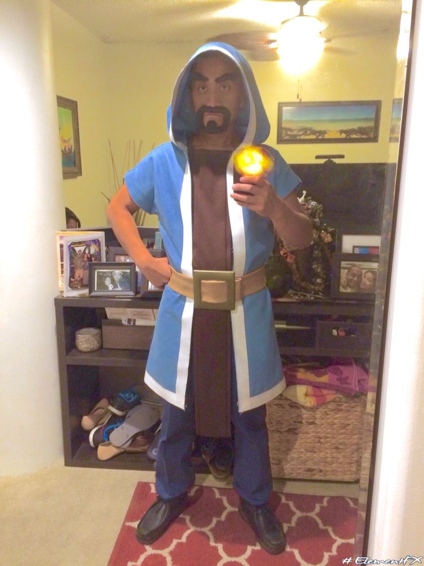 Homemade Clash of Clans Level 1 Wizard Costume | Clash of Clans ...