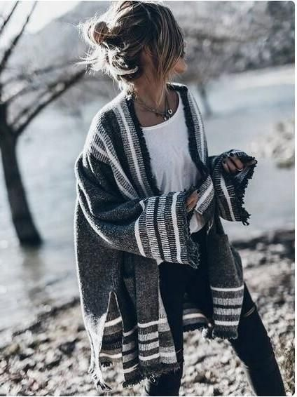 Fashion Fringed Knit Cardigan Sweater Coat  #cute #clothing #fashion #boho #dress #bohemia #design #beautiful #bohemiastyle #shopforselection #historyoftheworld