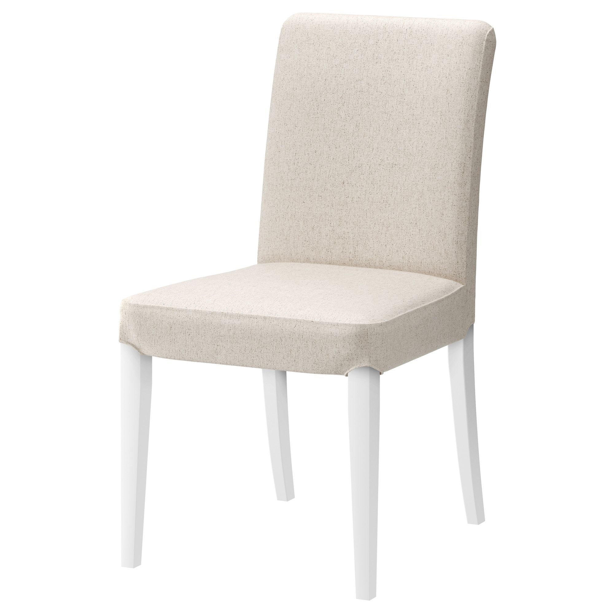 HENRIKSDAL Chair white, Linneryd natural Ikea dining