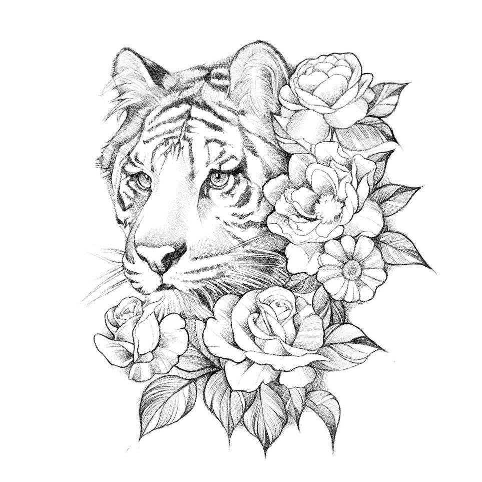 "Photo of ZK(지케이) 홍대타투 [STUDIO EZ] on Instagram: ""someone's white tiger . . . #포트폴리오 이벤트 중입니다 상담과 문의는 프로필의 링크(오픈카톡) https://open.kakao.com/o/sYyYAAB cellphone : 010-9417-0207 kakao ID :…"""