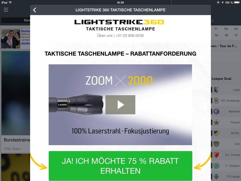 Taktische Taschenlampe