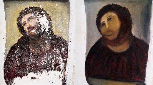 SPIEGEL ONLINE - Nachrichten Spanien: Rentnerin überpinselt Jesus-Fresko