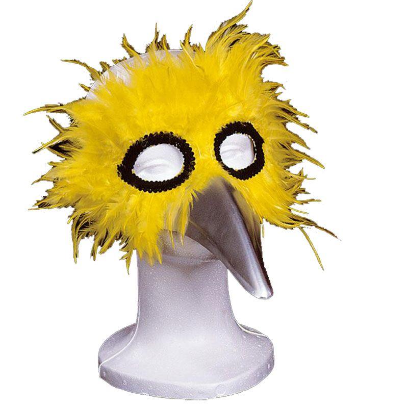 Máscara con Plumas - Amarillas #mascaras #antifaces #carnaval