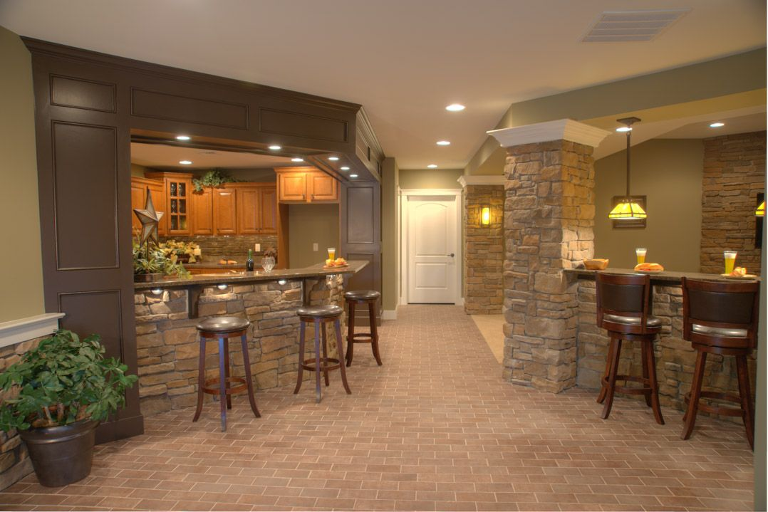 Fully Finished Daylight Basement Features A Kitchen