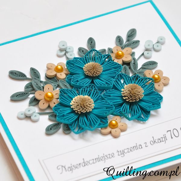 70th Birthday, Quilling, Greeting Card, Handmade, Quilling