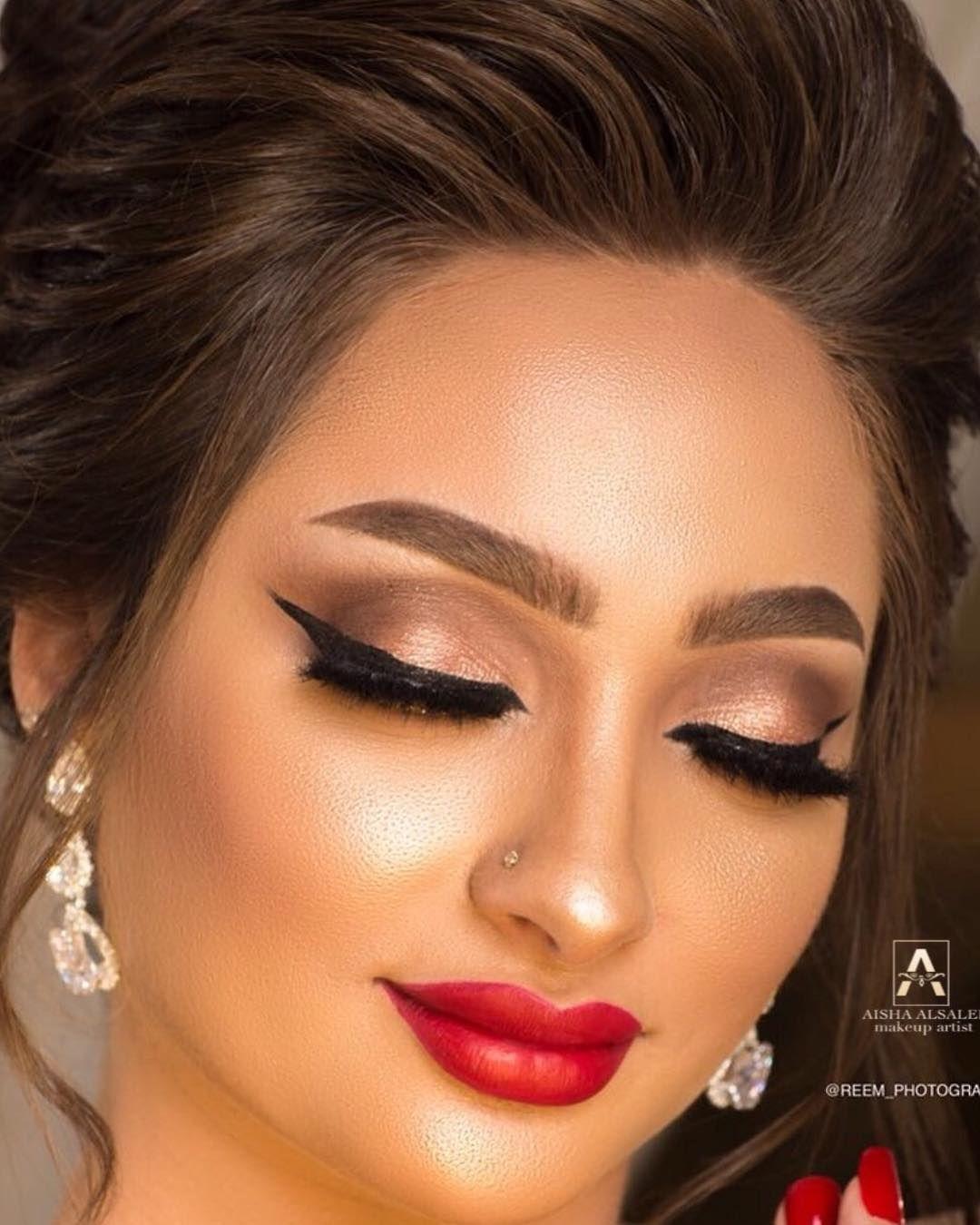 Aisha Alsaleh ترند اكسبلور فخم بنات جده مكياج ناعم فخم عروس بنات مكياج للستفسار عرايس Aisha Lipstick Mua
