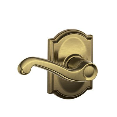 Schlage Camelot Collection with Flair Hall/Closet Lever F10 FLA 609 CAM