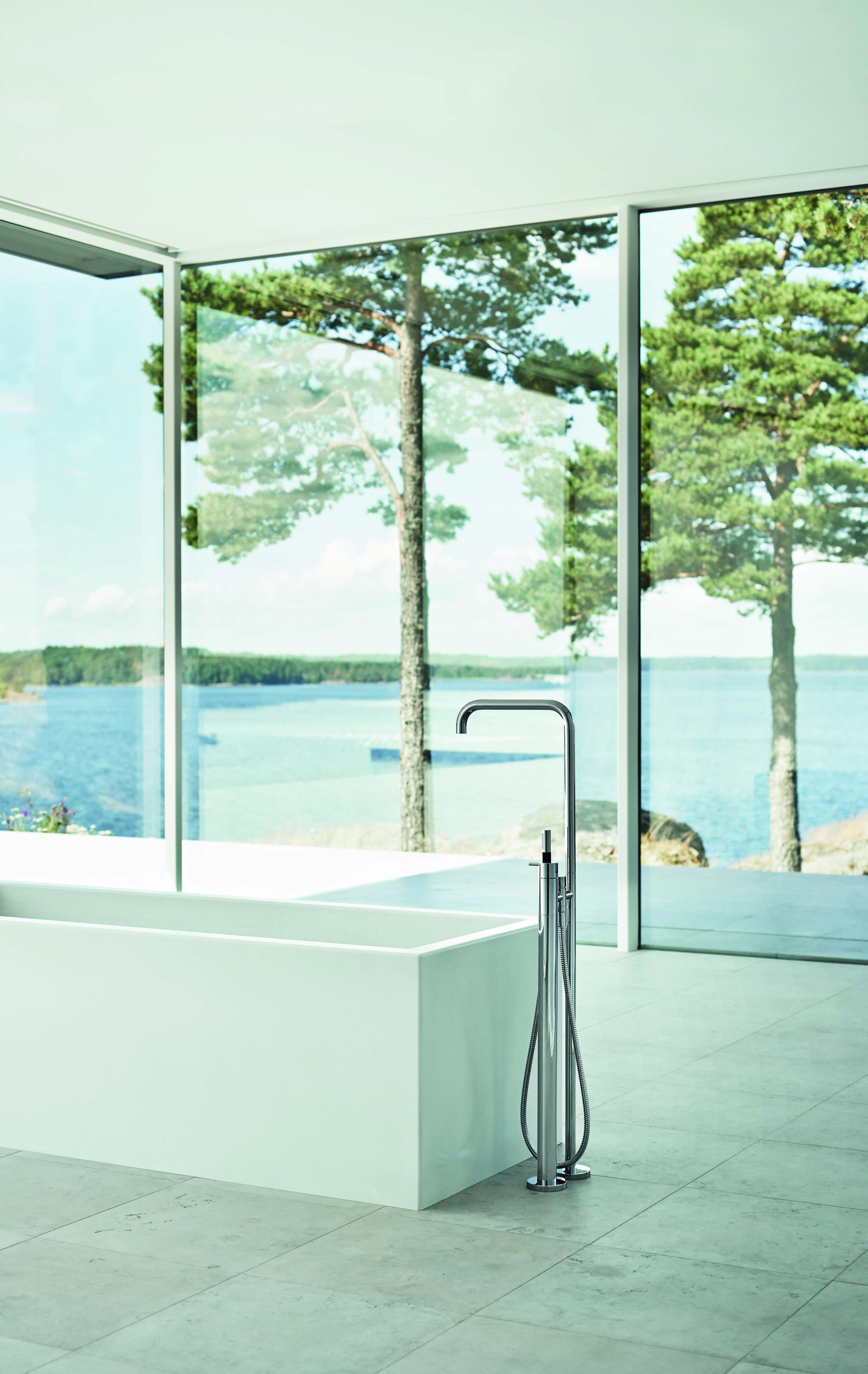VOLA Free-standing bath mixer with hand shower, FS1 | VOLA catalogue ...