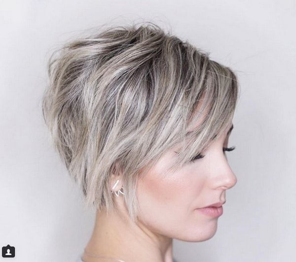 Grey Hairstyles Prepossessing Messy Layered Short Chopped Grey Haircuts 20182019  Great Hair