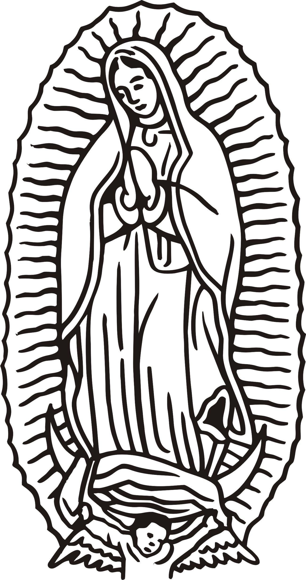 42 Awesome Free Our Lady Of Guadalupe Clip Art