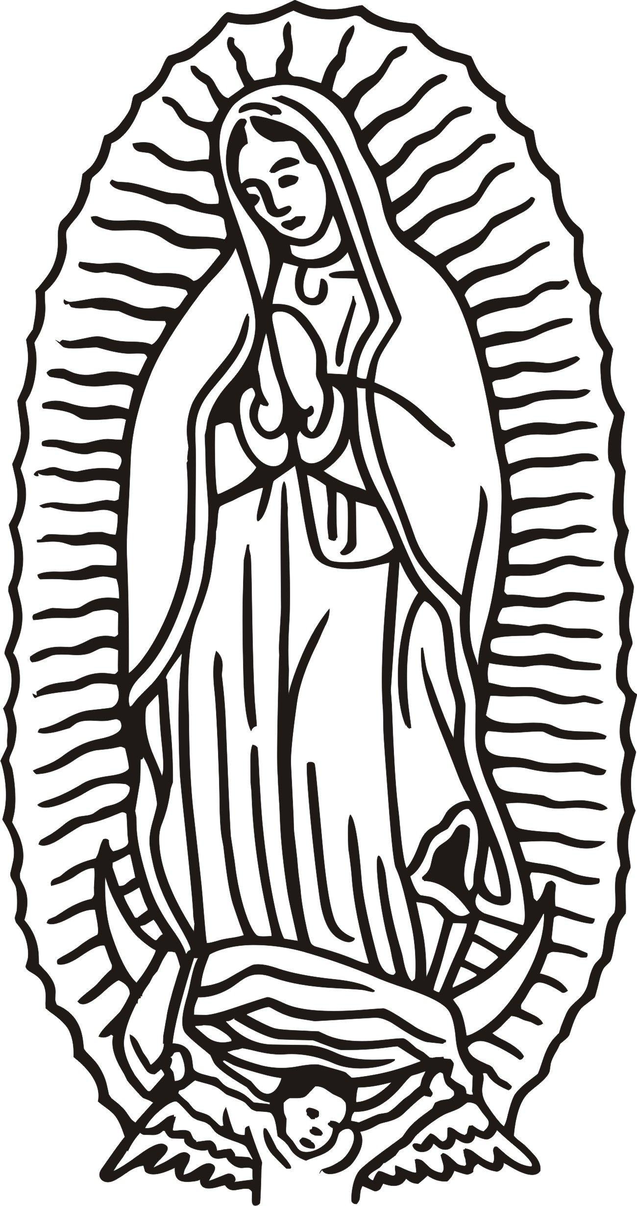 Virgen De Guadalupe Coloring Page