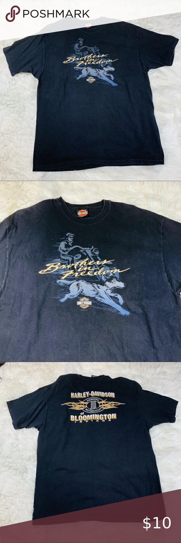 10 25 Hd Black Brothers In Freedom Tee Xxl Freedom Tee Harley Davidson Shirt Tees