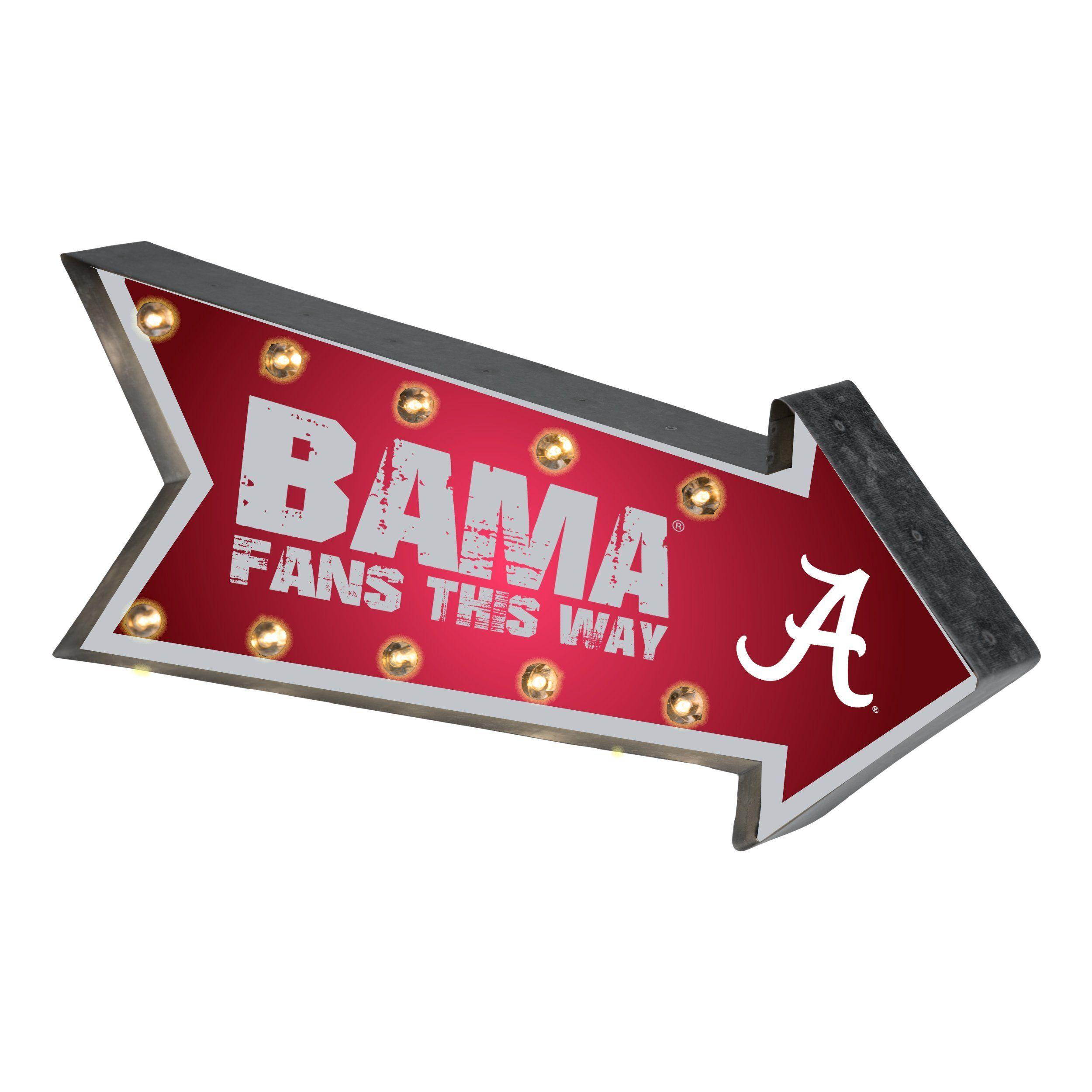 Alabama Crimson Tide Ncaa Marquee Light Up Sign Alabama Crimson Tide Crimson Tide Arrow Design