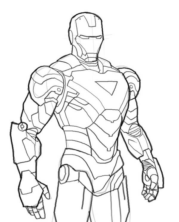 Iron Man Mark 6 Coloring Page Netart Avengers Coloring Pages Iron Man Drawing Avengers Coloring