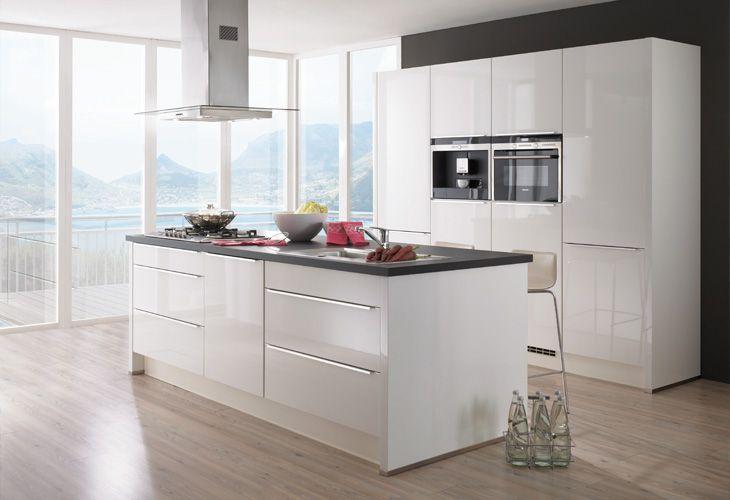 Küche in weiß kücheninsel www dyk360 kuechen de