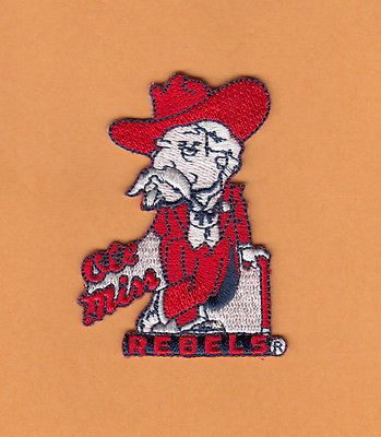mississippi rebels ole miss colonel reb full stitched