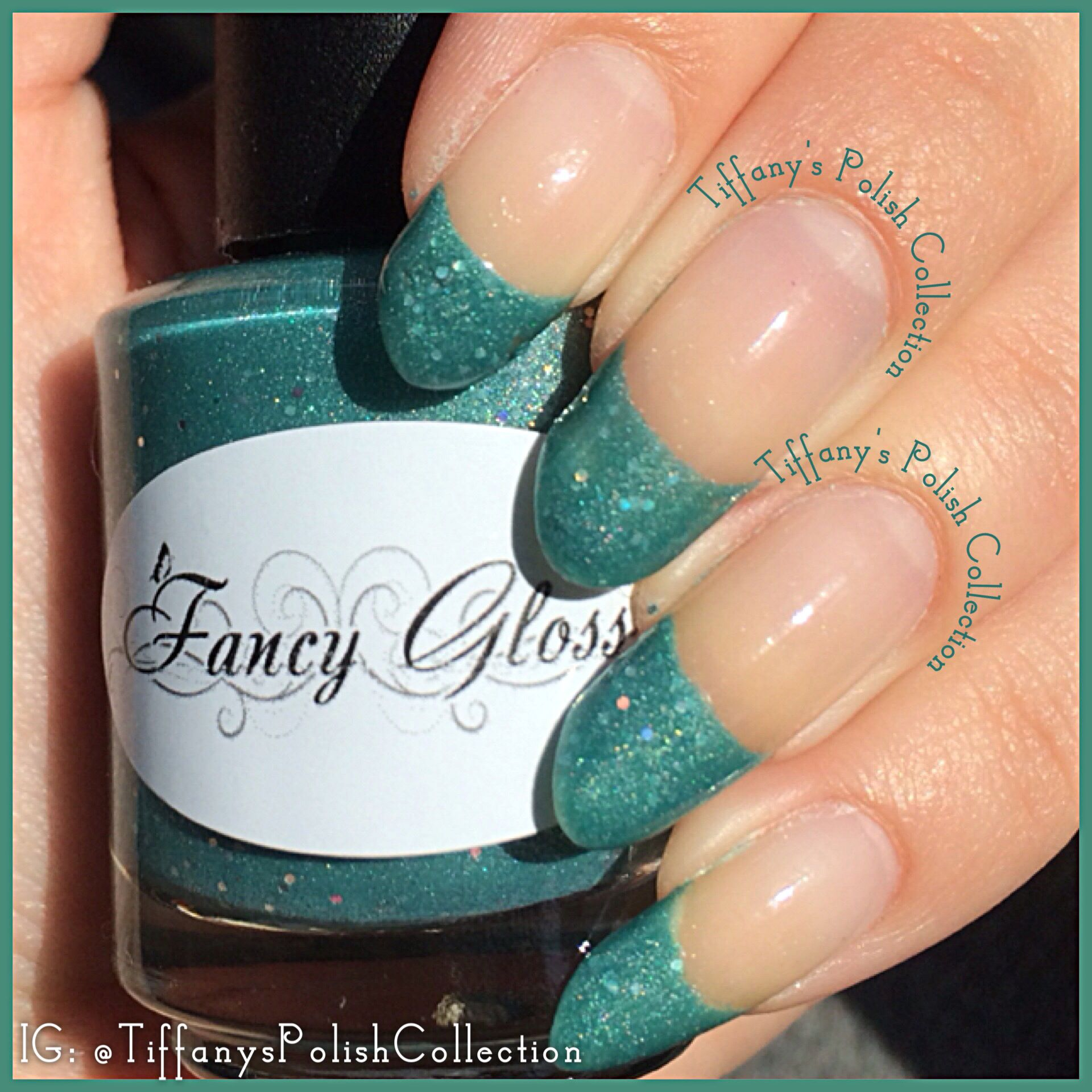 Unteal I See You Again by Fancy Gloss 2 coats on the tips only and ...