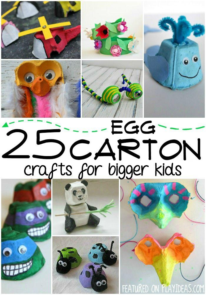 25 Egg Carton Crafts For Bigger Kids Kiddo Fun Pinterest Egg