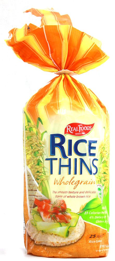 Both Organic And Gmo Free Real Foods Whole Grain Rice Thins Corn