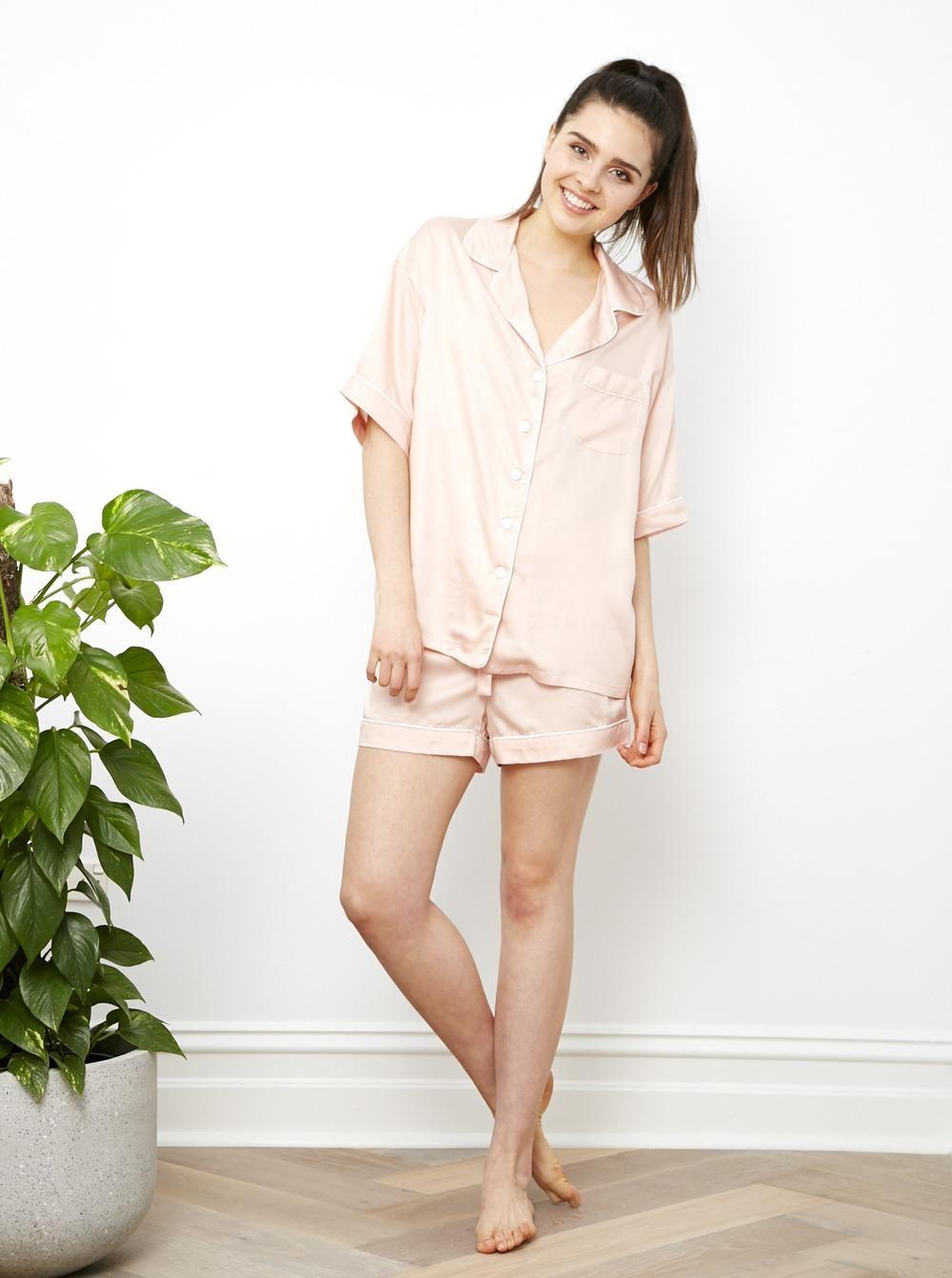 Cloud Pink Pj Shorts by ettitude.com.au    Street Style Pjs + Bedtime Pjs df90c3ce1