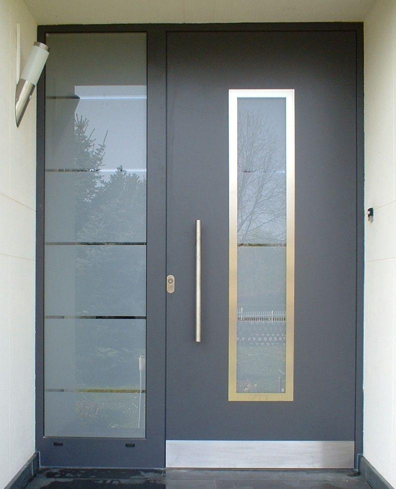 Puerta de entrada   abatible   de aluminio   de seguridad - IMB - puertas de entrada