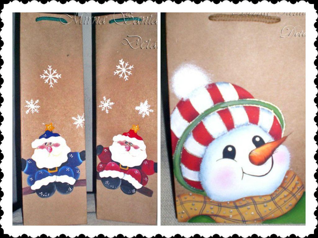 Bolsos papel pintados a mano navidad detalles pintados handpainted details pinterest - Papel pintado a mano ...