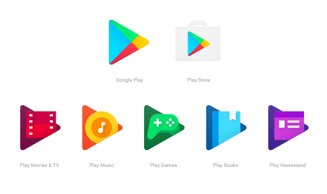 Google Play Icons Just Got A Flat Design Makeover Google Play