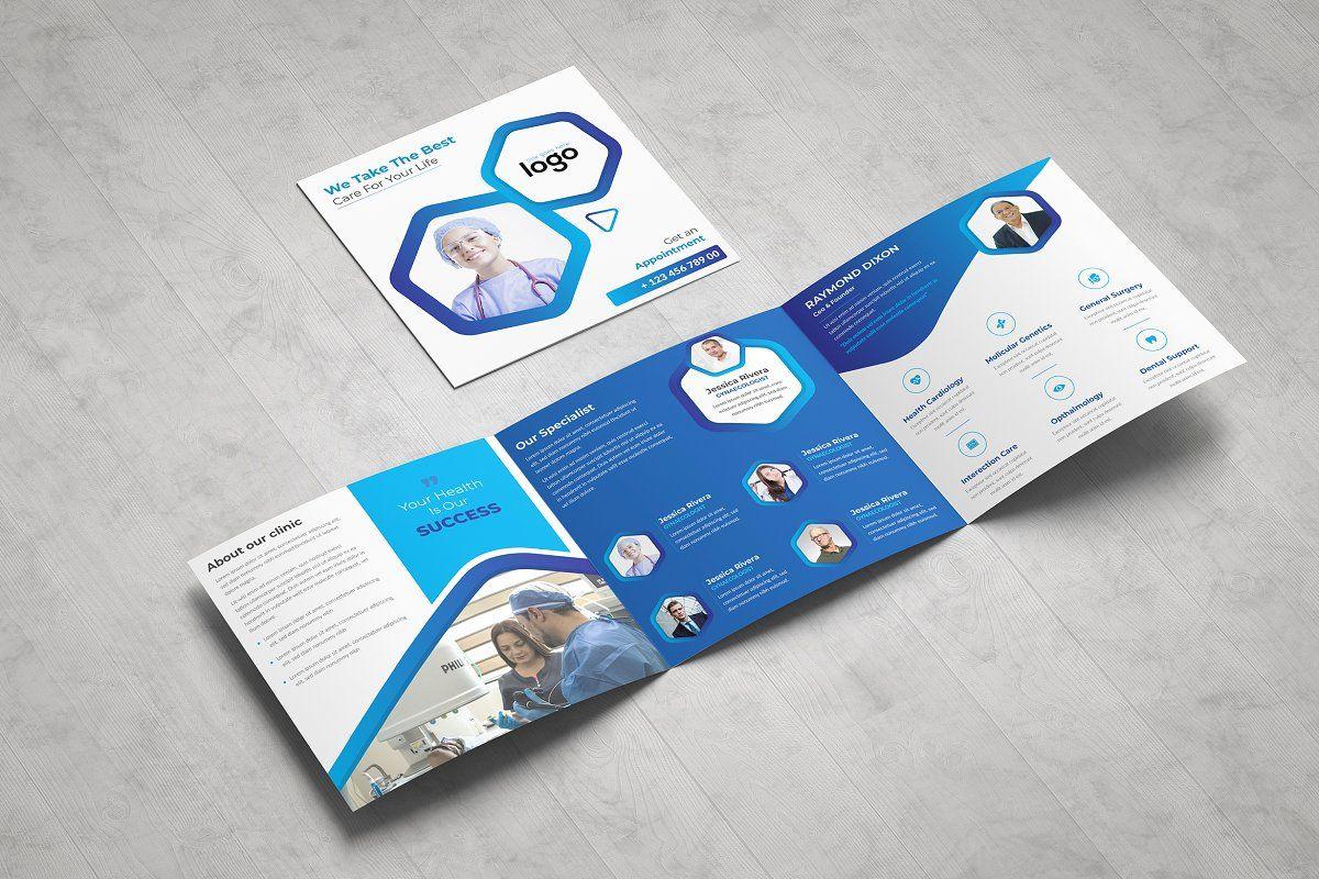 Medical Square Tri fold Brochure in 2020 Trifold